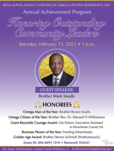 Annual Achievement Program Honoring Outstanding Community Leaders - 2/13 1PM